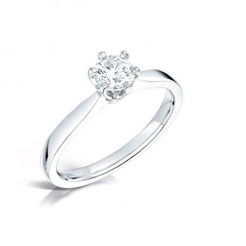 ANGELICA 18K VITGULD - Diamantringar - RINGAR - VANBRUUN