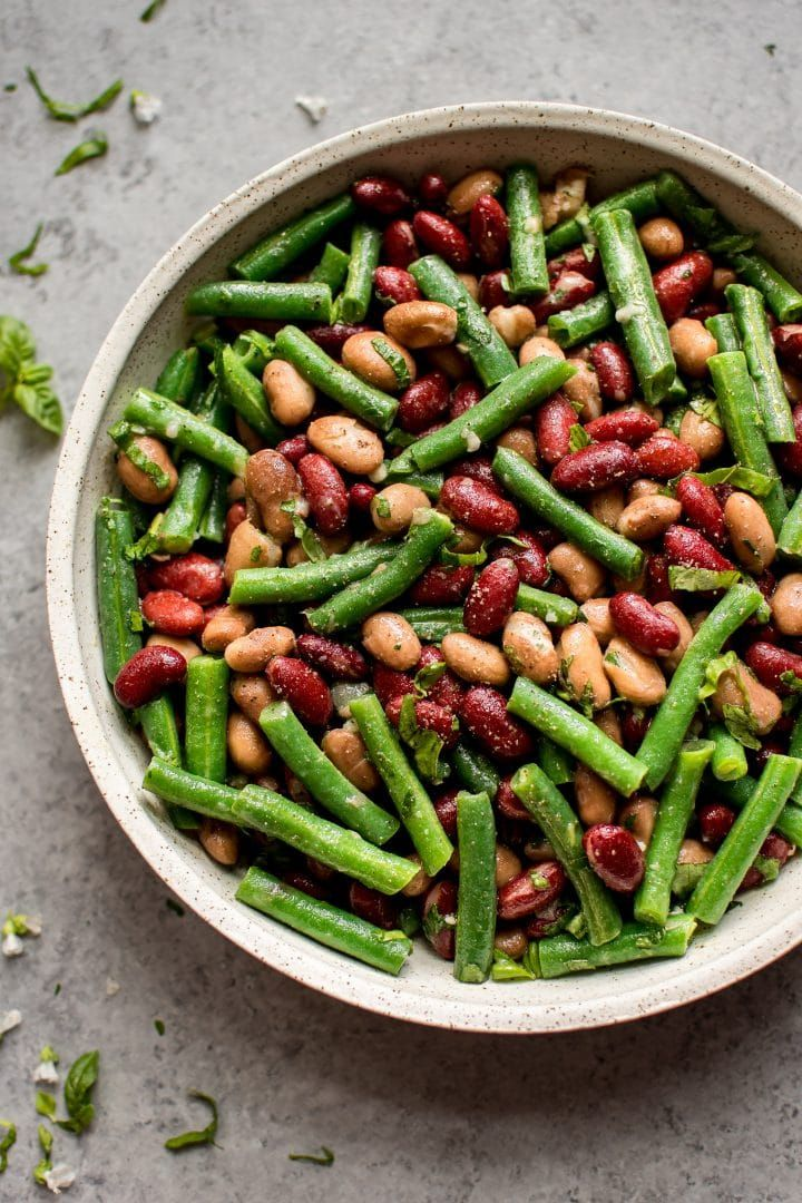 Easy Three Bean Salad Recipe Bean Salad Recipes Recipes With Kidney Beans Three Bean Salad