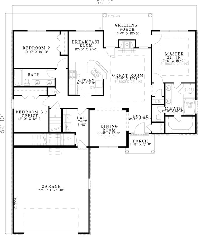 1629 Square Foot House Plan Chp 45444 At COOLhouseplans.com