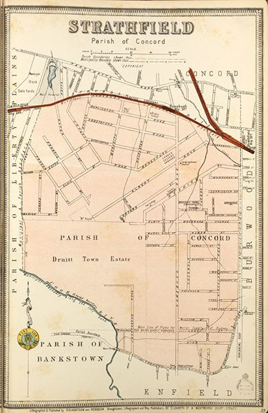 Strathfield borough map. Available to purchase as an archival print. Contact the Library Shop for details. Print number C006720041