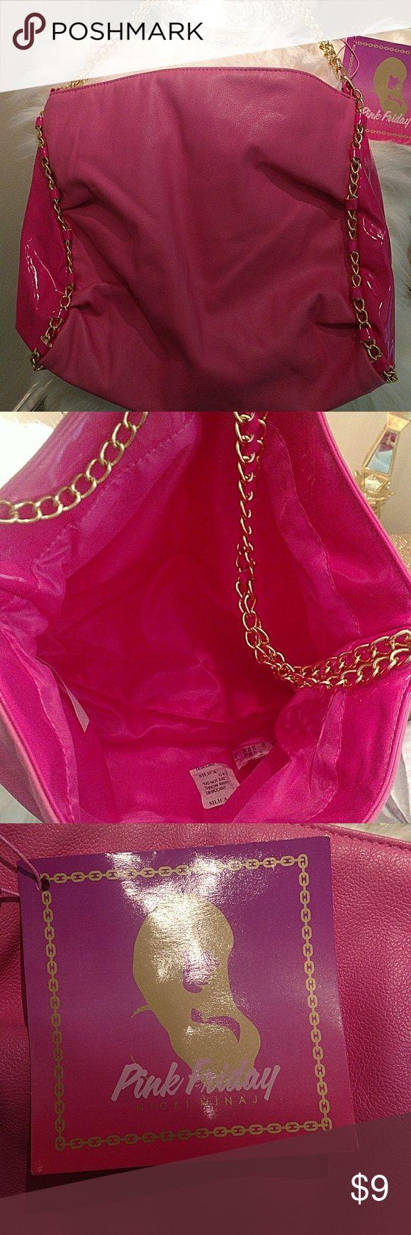 Brand New!!! Nicki Minaj Handbag Bright pink gold chain style handle Pink Friday Nicki Minaj Bags
