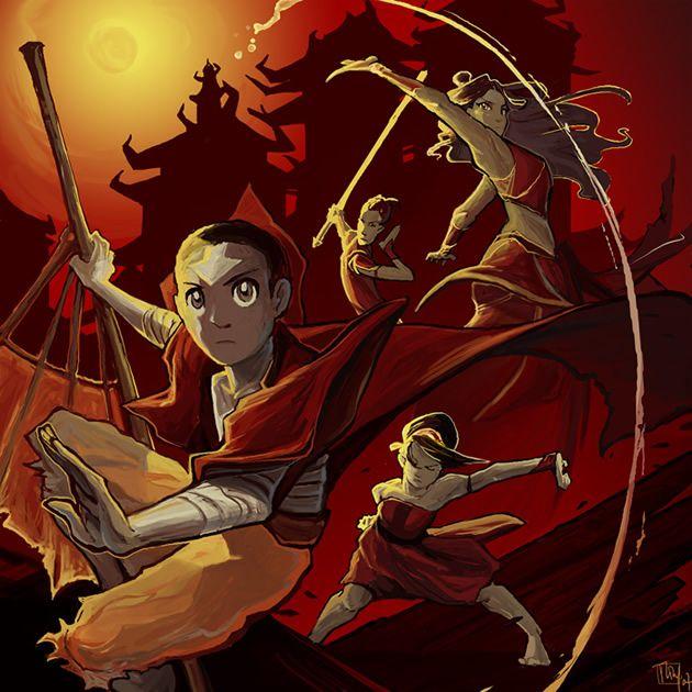 Avatar: A Lenda de Aang fanart. Visite o post para mais: http://www.geracaogeek.com.br/fanarts-de-avatar-aangkorra/