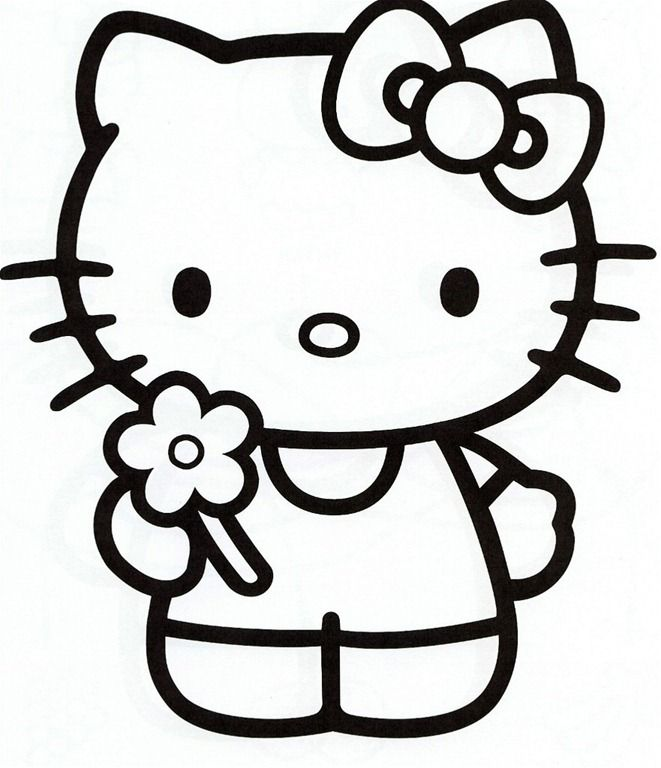 Free Printable Hello Kitty Coloring Pages 1Photo Share