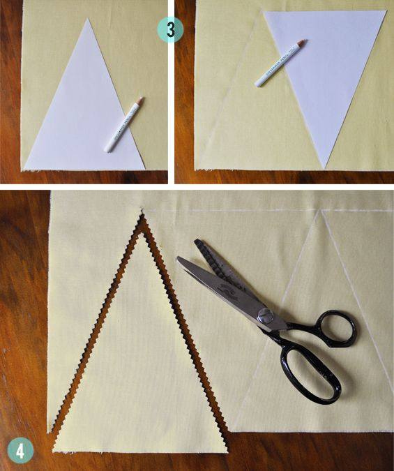 The Painted Hive | DIY Fabric Bunting Flags Tutorial