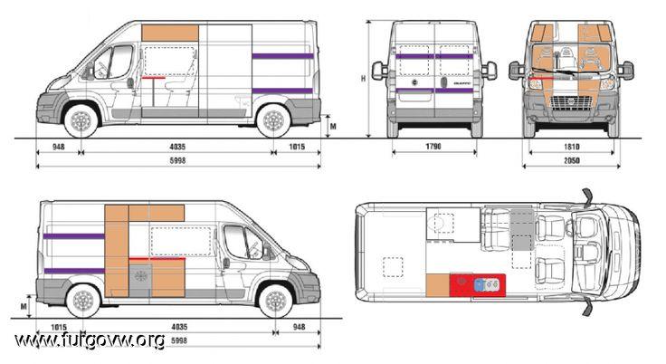 Planos 800 438 campervan pinterest - Muebles para camperizar furgonetas ...