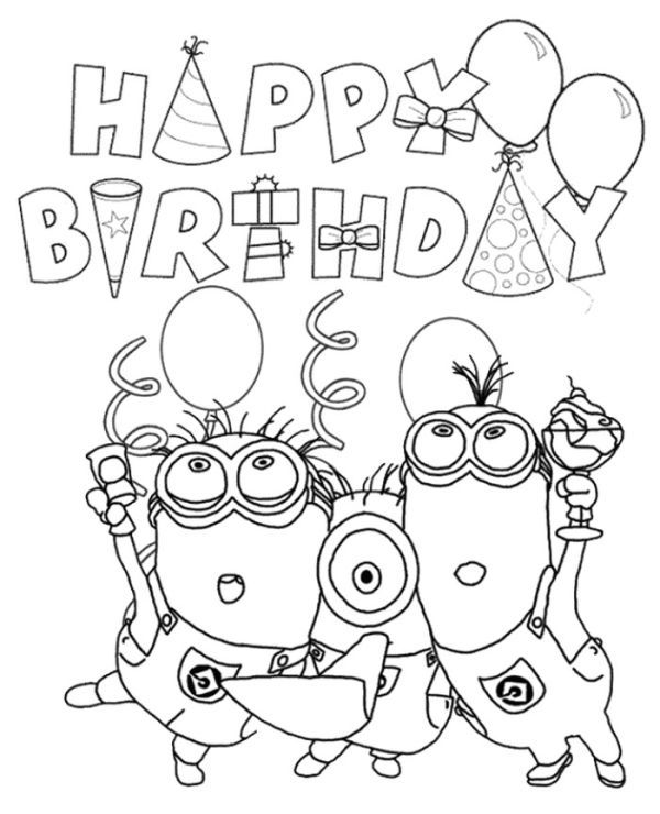 Minions Happy Birthday Printable Card To Print For Free ...