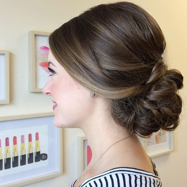 This mornings bridal consult called for a classic, romantic updo  cc: @jacquelineevents