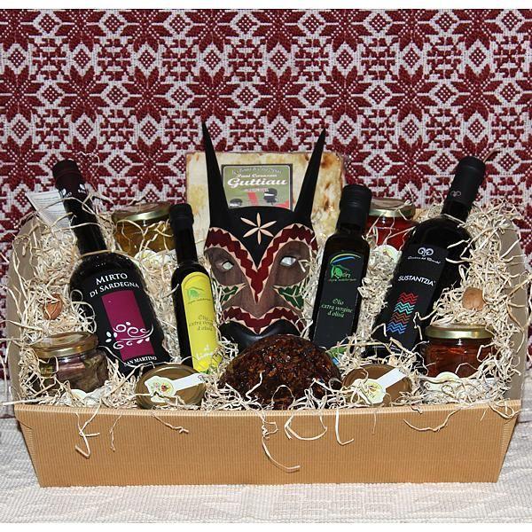 Biderosa, cesto regalo con prodotti tipici sardi - SardinianStore. Prodotti Tipici Sardi