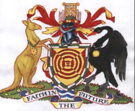 Queanbeyan coat of arms.