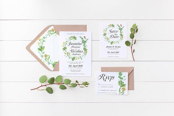 Monet's Garden Wedding Invitation Suite the Monet Suite
