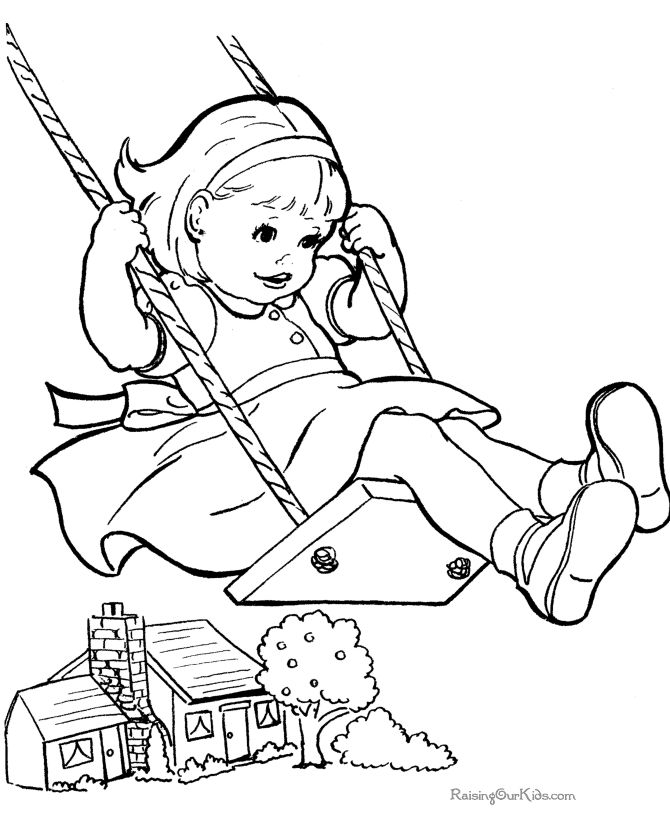 coloring page for kids to print - Drawings For Children To Color