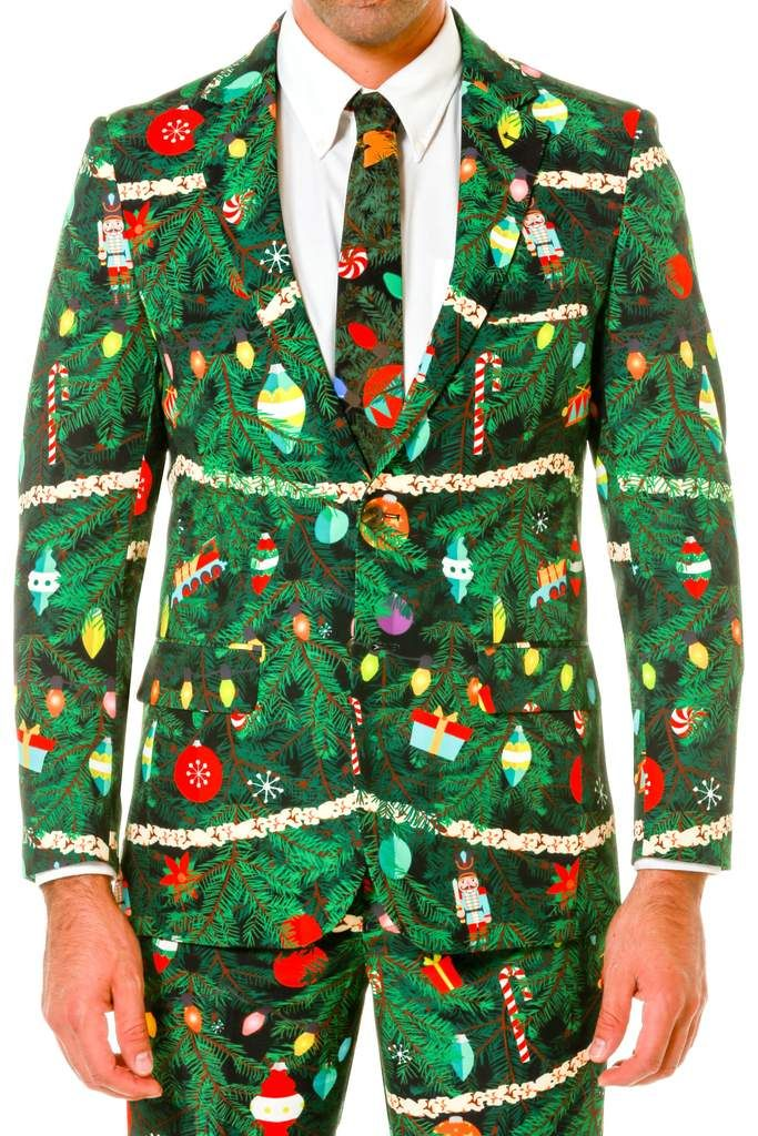 Details Christmas Tree Camo Ugly Sweater Suit by Shinesty