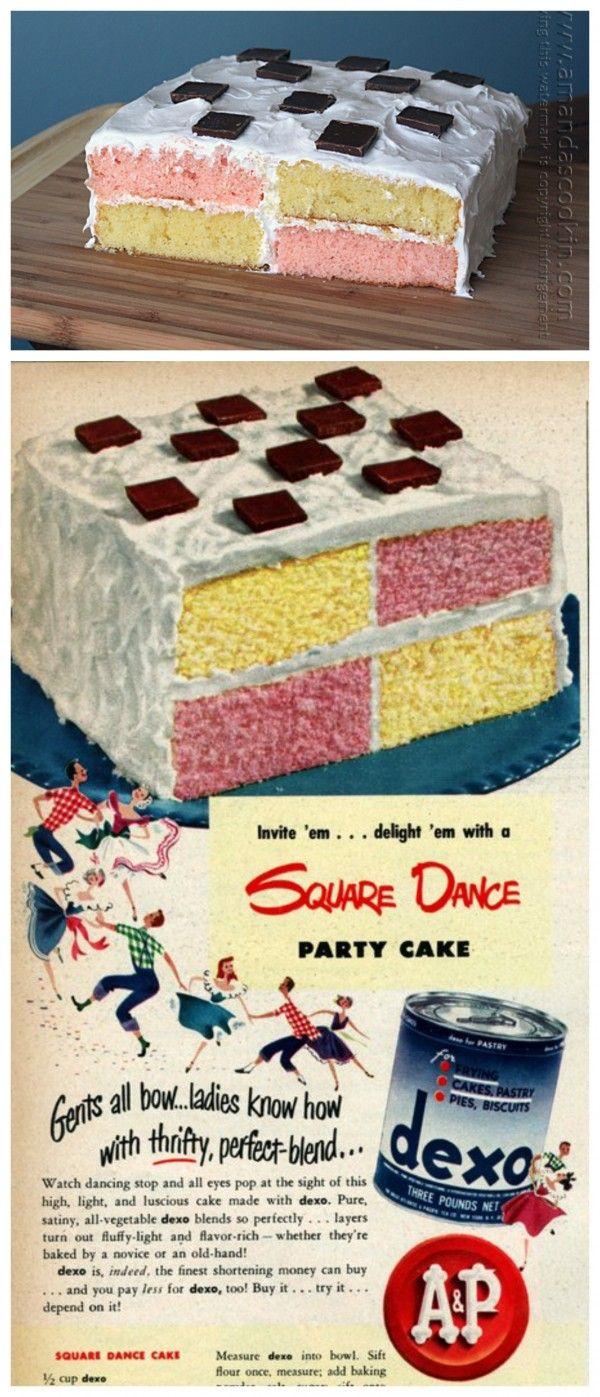 Vintage Recipe: Square Dance Party Cake-