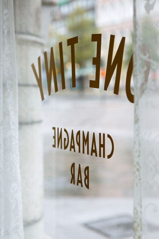 "restaurant | ""one tiny champagne bar"" 