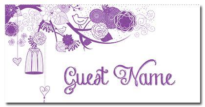 Love Birds Suite Guest Place Card - love, birds, suite, brguest, place, card - EcoCelebrations