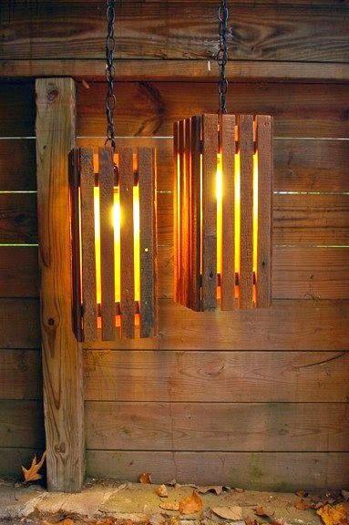 Instrucciones de como hacer una lampara con palets de madera