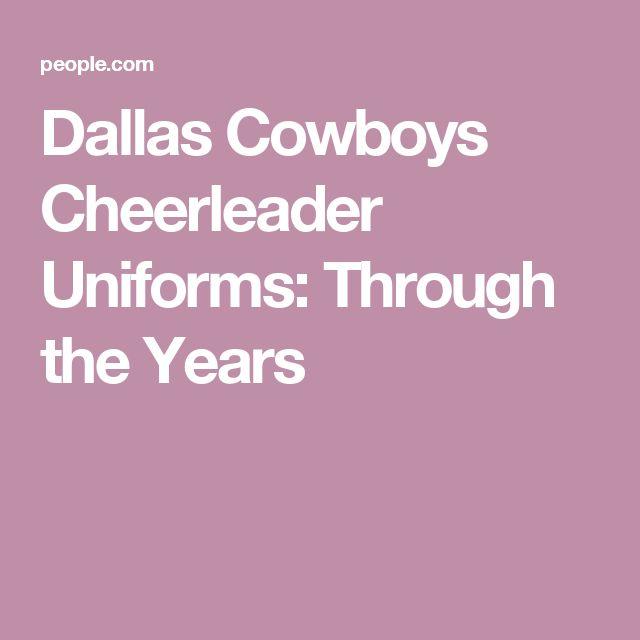 Dallas Cowboys Cheerleader Uniforms: Through the Years