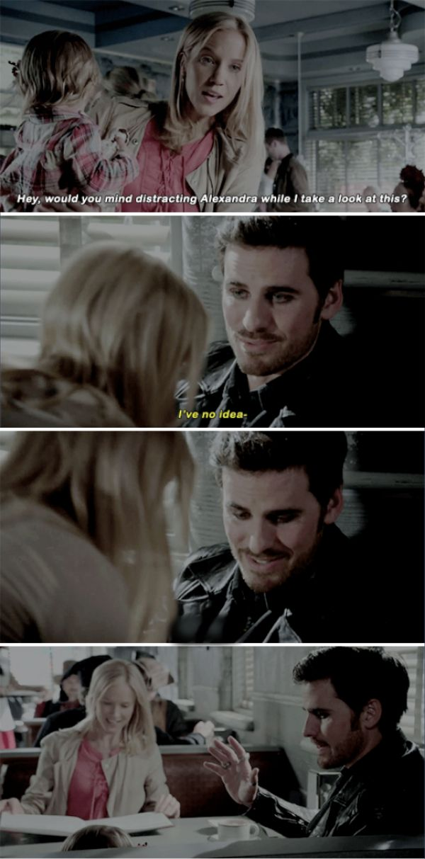 """""""Would you mind distracting Alexandra while I take a look at this?"""" - Ashley and Killian #OnceUponATime"""