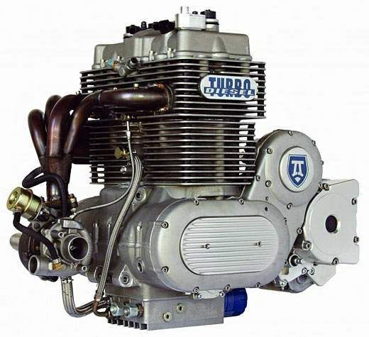 Neander Diesel Motorcycle Engine.