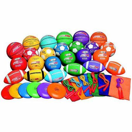 Sportime Gradestuff 42-Piece Middle School Equipment Pack, Assorted Colors, Pack of 42
