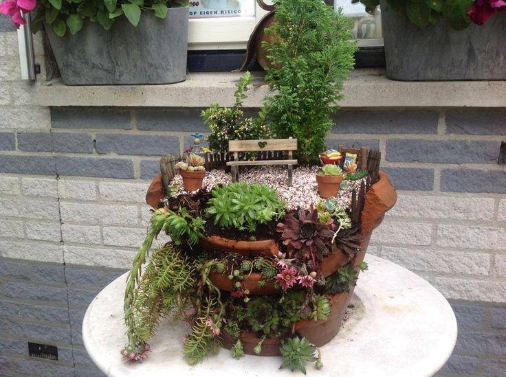 185 Best Images About Miniature Gardens Ideas For Broken Flower Pots On Pinterest Fairies