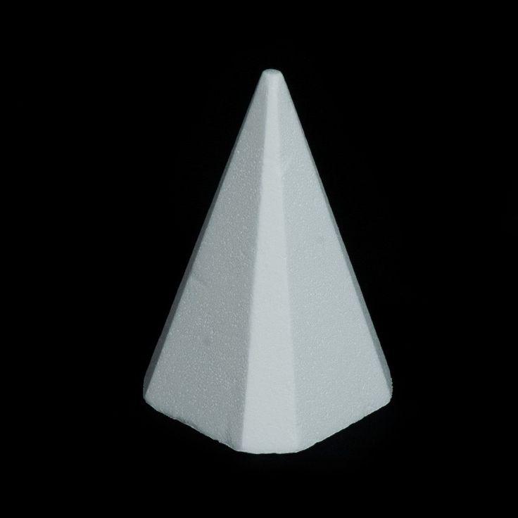 PIRÁMIDES DE PÓREX - En este apartado encontrarás pirámides de pórex de 2 medidas, perfectas, dada su superficie lisa, para pintar o recubrir de purpurina, pan de oro o cualquier material similar que se os ocurra.
