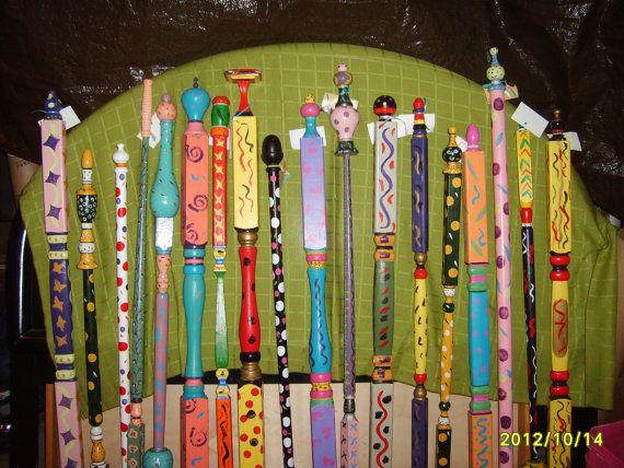 garden poles outdoor garden art by AllThingsGarden on Etsy. , via Etsy.