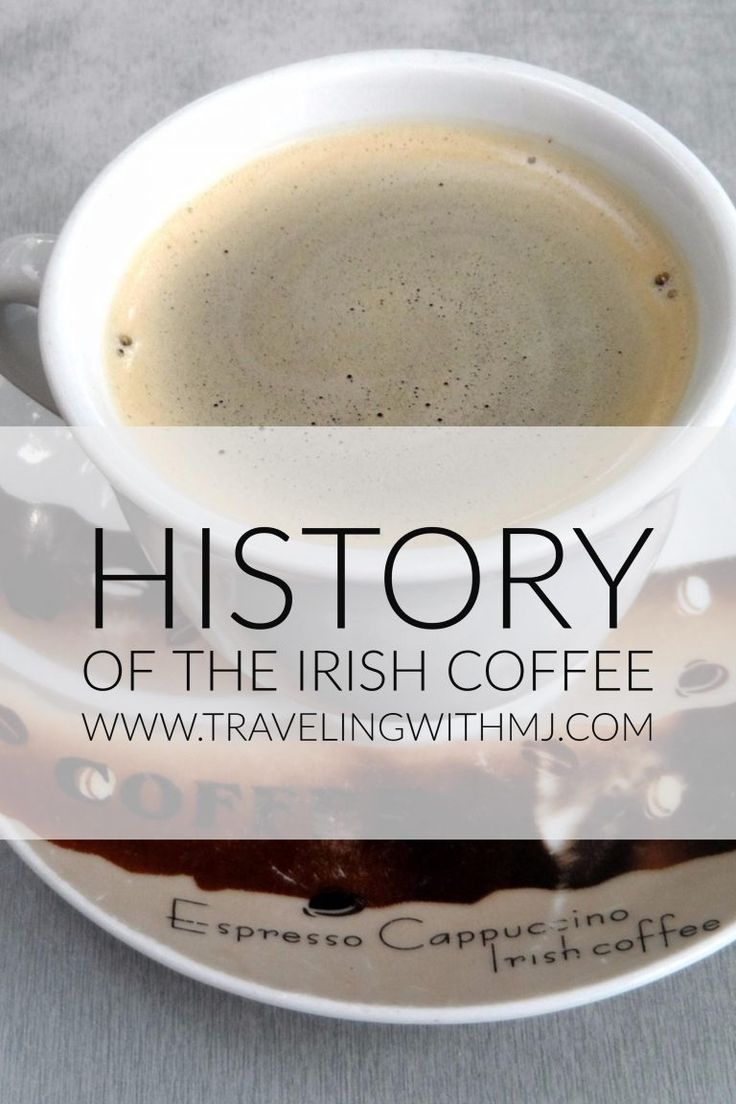 Long before there were all these fancy martini drinks, the Irish Coffee was considered the upscale drink of choice. An Irish Coffee is thought to be a variation of the classic hot toddy and is made with hot coffee, Irish whiskey, and sugar, all stirred t