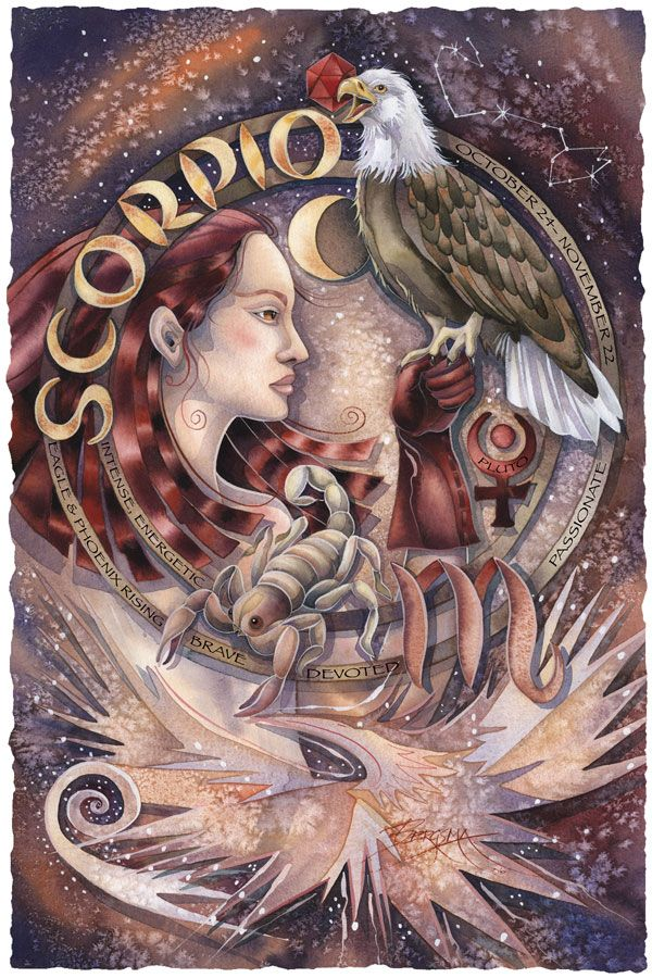 Bergsma Gallery Press :: Paintings :: Art With Symbols :: Zodiac :: Scorpio - Prints
