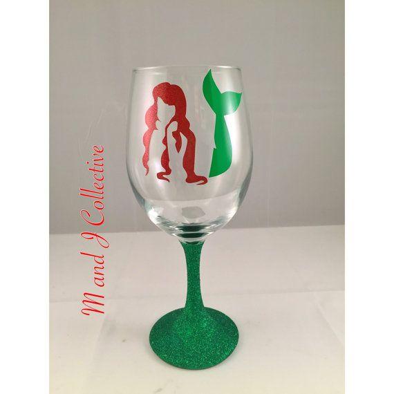 Ariel Little Mermaid Princess Inspired Wine by MandJCollective