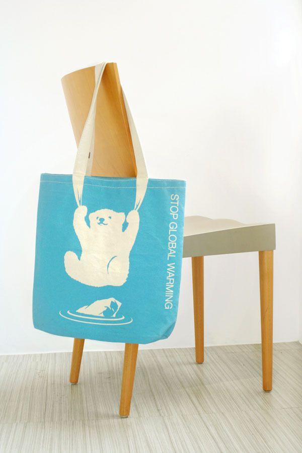 Il mondo ambientalista si è sbizzarrito con le shopping #bag di #design. Questa è contro il global warming.