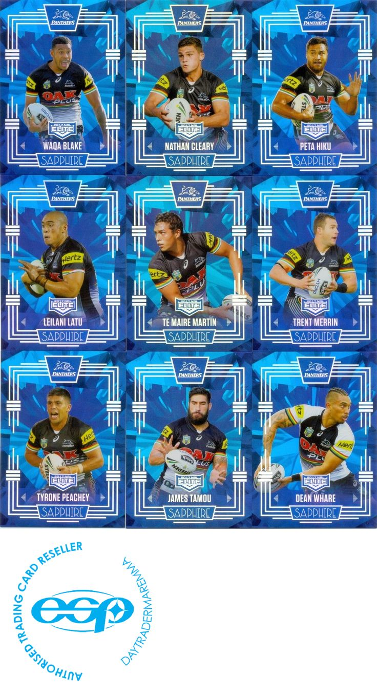 Rugby League NRL Cards 25583: 2017 Esp Nrl Elite Mojo Sapphire Team Set Penrith Panthers 14 20 -> BUY IT NOW ONLY: $399.99 on eBay!