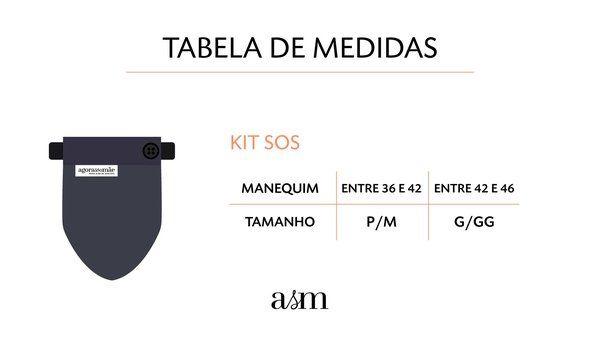 Kit SOS Barriga - 3 faixas + extensor de calças