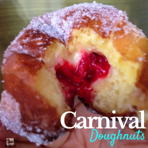 Confort food means raspberry doughnut
