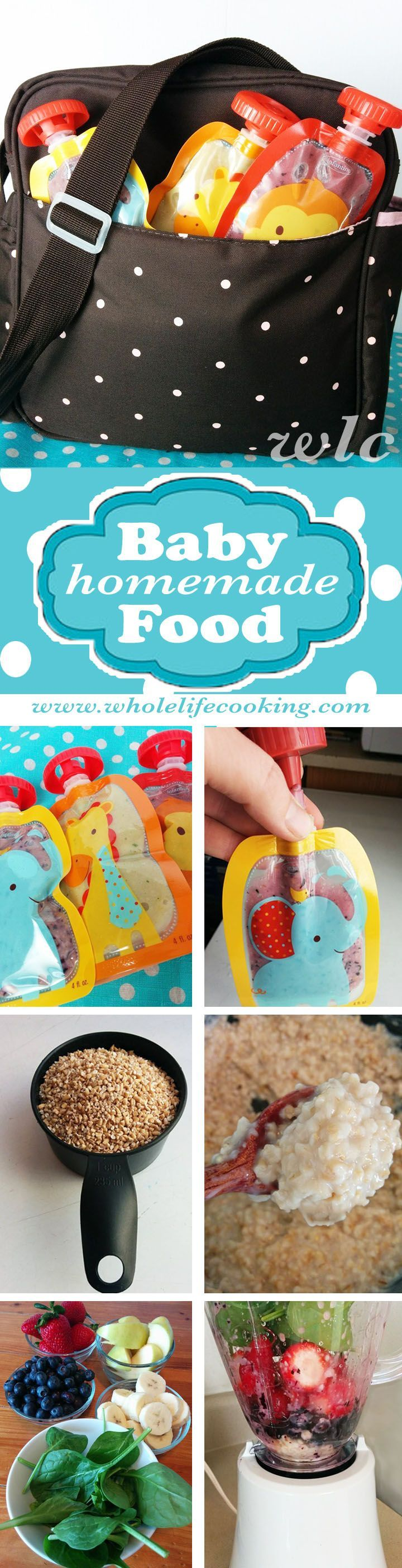 """Homemade """"squeeze pouch"""" baby food. You'll never do store bought again. #smoothie #go-gurt"""