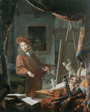 The Painter's Studio, Michiel van Musscher