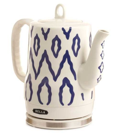 Electric teakettles aren't exactly known for their good looks — save for the stylish Electric Ceramic Teakettle from Bella ($49.99, amazon.com). This clever appliance combines classic styling with the convenience of an electric heating element that fits in the base. In patterns ranging from Aztec designs to flower prints, you'll be proud to display this piece on your table.