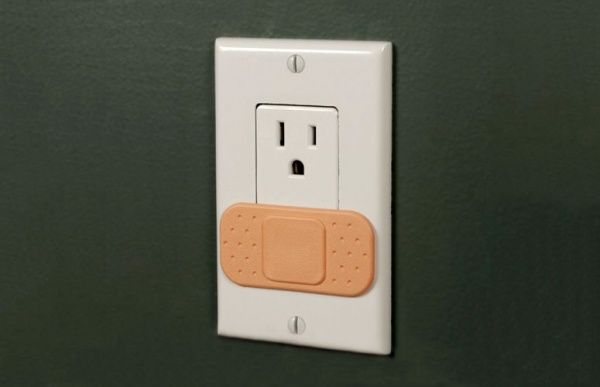 Ouchlet Bandaid Outlet Covers: Idea, Stuff, Kids Room, Band Aid, Bandaid Covers, Ouchlet Outlet, Outlets, Baby, Outlet Covers