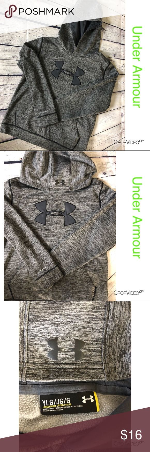 Under Armour Storm 1 gray hoodie, size YLG Under Armour Storm 1 gray hoodie, size YLG, excellent condition Under Armour Shirts & Tops Sweatshirts & Hoodies
