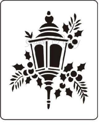 Sweet Poppy Stencil: Lantern (£4.99)