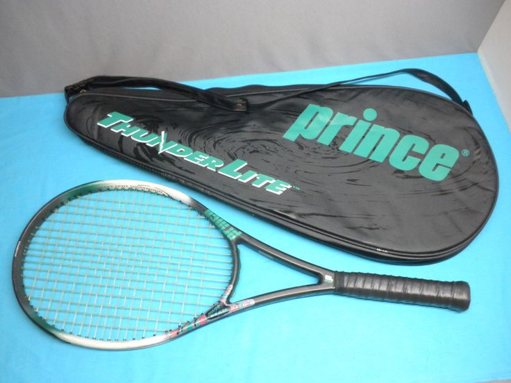 "Prince ThunderLite Mid Plus 95 Tennis Racquet 4 5/8"" w/ cover  NEW OverGrip"