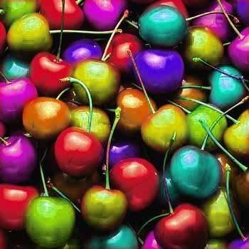 cherries graphics odd | Rainbow Cherries Wallpaper, Background, Theme, Desktop