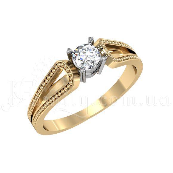 Золотое кольцо для помолвки c бриллиантом - пр103ш