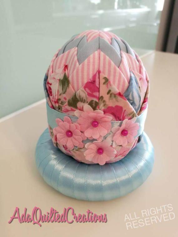Check out this item in my Etsy shop https://www.etsy.com/listing/518201185/easter-decorative-eggs-folded-fabric