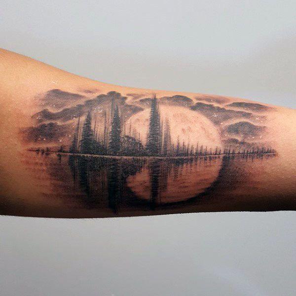 30 Soundwave Tattoo Designs für Männer – Acoustic Ink Ideas   – Tattoo