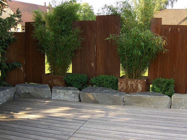 Genial Moderner Sichtschutz Für Den Garten. Gut Screen Protector Steel  Stunning On Creative Deco Ideas For Privacy 2 #creative #gardenandterrace