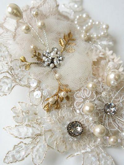 CA4LA Bridal×Cli'O mariage<br>フラワーモチーフ×パール ヘッドドレス