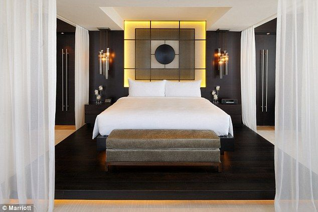 Fit for a king: One of the bedrooms in the new hotel - which cost upwards of £110 per person per night
