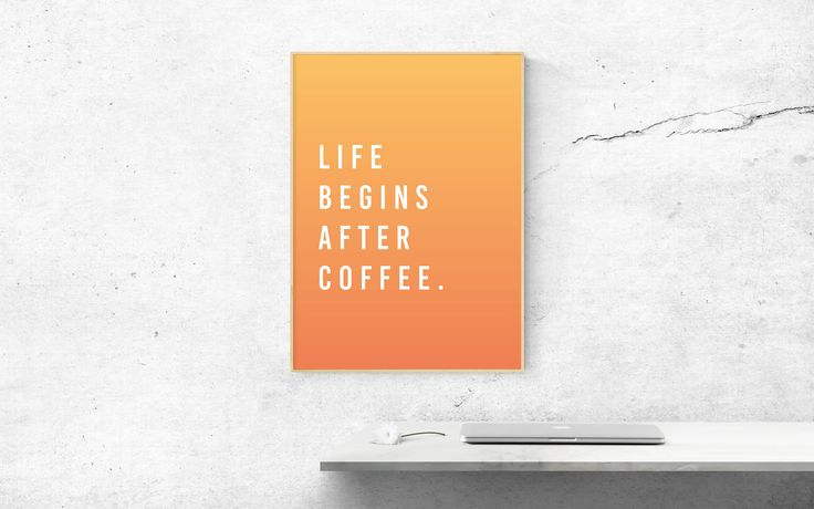 Coffee Print, Coffee Poster, Printable Quotes, 50x70 Poster, Wall Art Prints, Instant Download, Quote Prints, Kitchen Wall Art by SilBarragan on Etsy