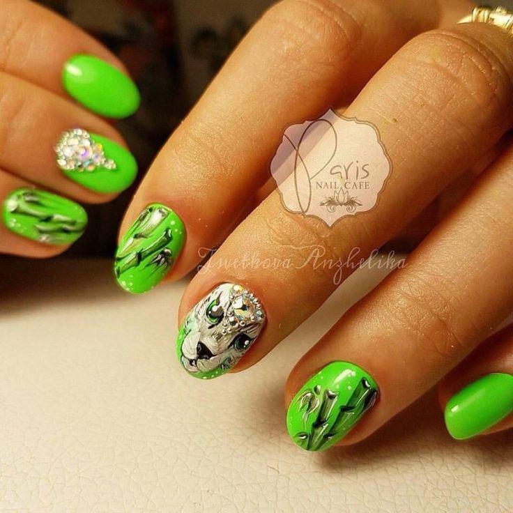 Beautiful nails 2017, Beautiful summer nails, Bright summer nails, Exquisite…